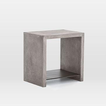 Industrial Concrete Side Table Concrete Table Concrete Coffee Table Industrial Living Room Furniture