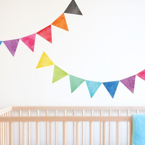 easily add colour to your nursery wall with this beautiful and