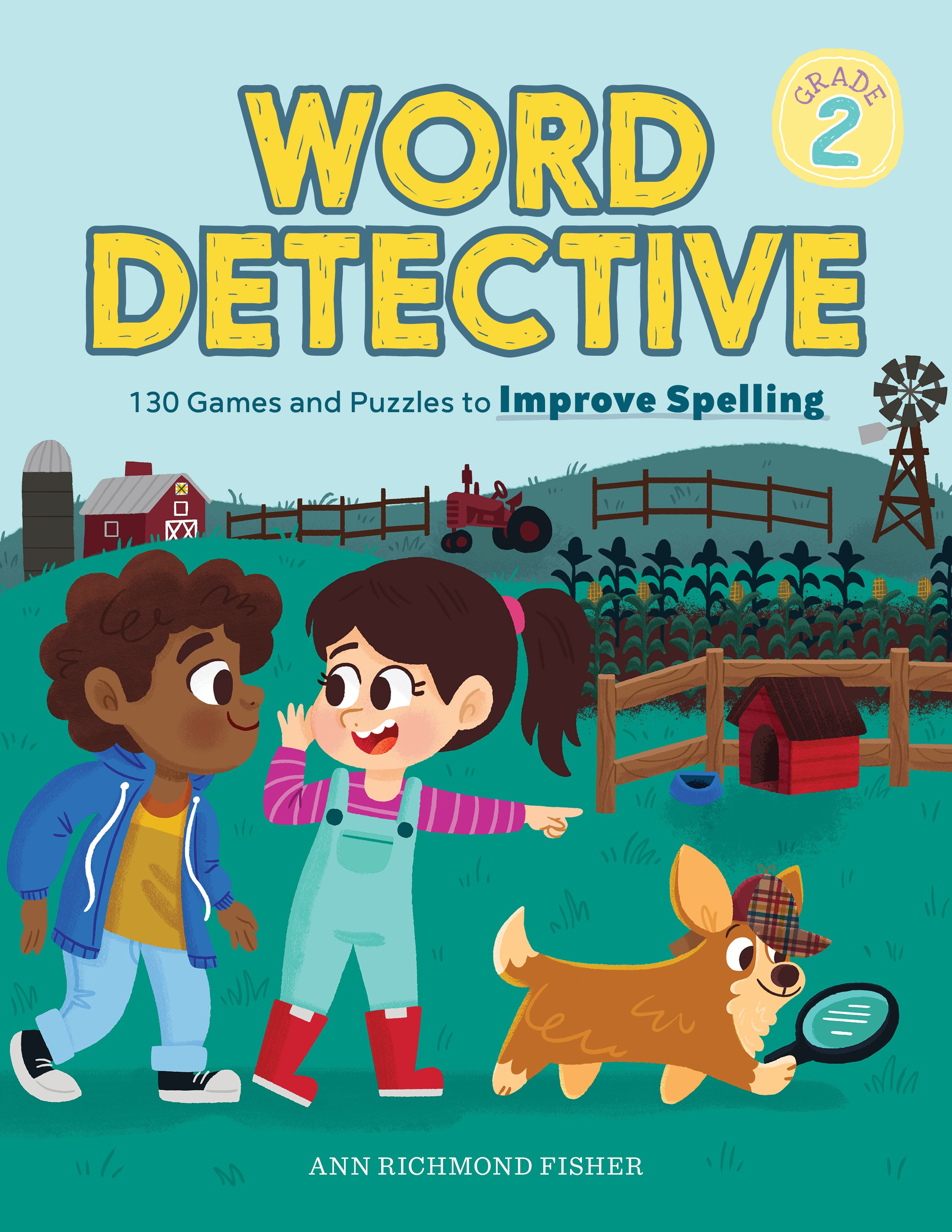 130 puzzles, 200 spelling words, AND a mystery to solve