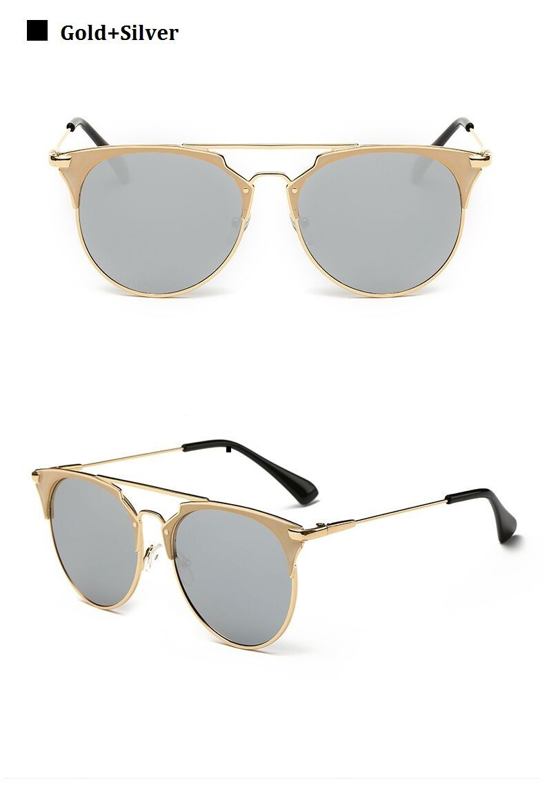 fd330fbfb0 Retro Round Cat Eye Sunglasses Men Women Designer Eyewear Metal Frame UV400  Sun Glasses Female Oculos De Sol Lunette De Soleil - BikiniConcepts.com -  Online ...