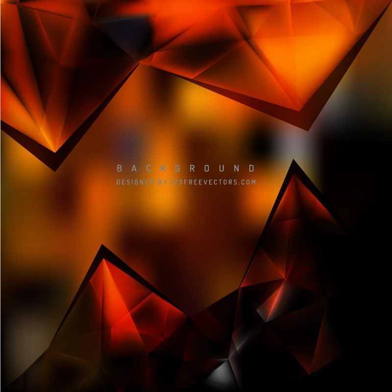 Abstract Black Orange Triangle Polygonal Background Abstract Vintage Floral Backgrounds Cool Backgrounds Cool orange and black backgrounds