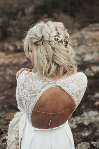 36 Chic Looks With Elegant Wedding Hairstyles | We