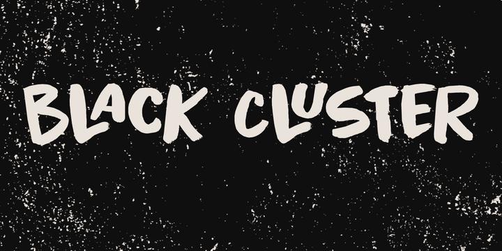 Black Cluster Webfont & Desktop font MyFonts St logo
