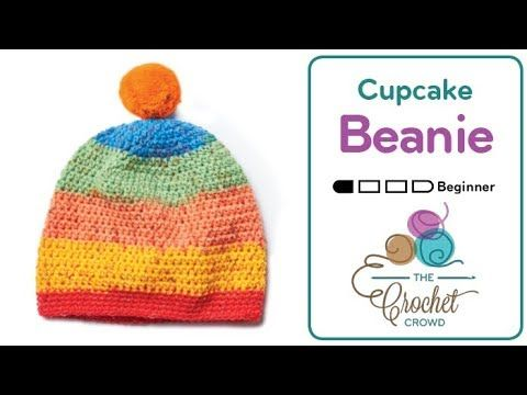 4fa2ab3d165 Crochet Caron Cupcakes Pom Pom Hat The ball bands of the Caron Cupcakes  Yarn has a free crochet beanie pattern