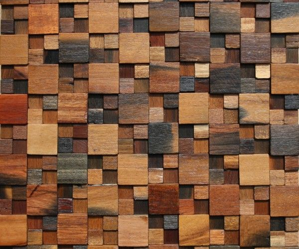 Tile Stone Reclaim Wood Mosaic