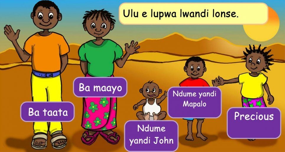 Precious and her family - elearning for Africa from iSchool Zambia