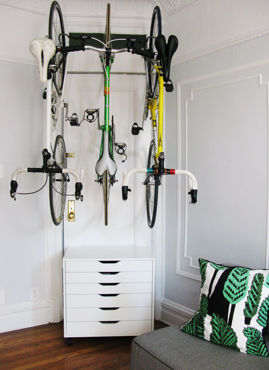 Indoor Bike Storage For The Love Of Bikes At Home Bike Storage Using Ikea And Delta