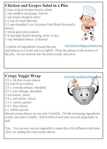 Free Kids Cooking Printables Cooking With Kids