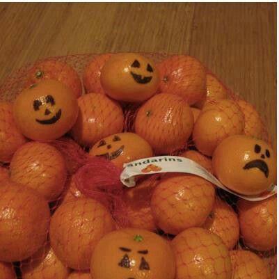 Pumpkin oranges.. Sad o neat