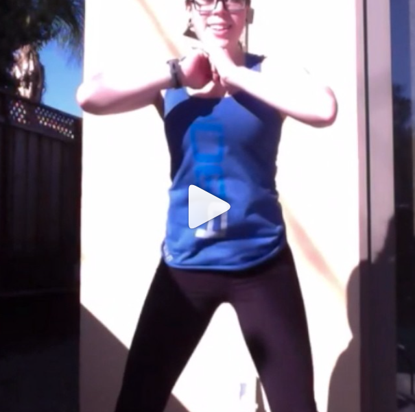 I love this squat move from my new program! I did the