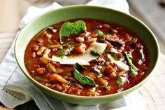 Beef-cheek minestrone