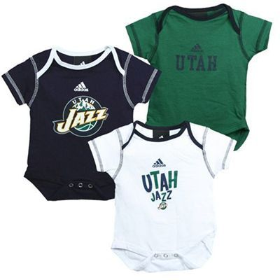 super popular c4f27 c63fe Utah Jazz 3-Piece Creeper Set | For the Baby | Utah jazz ...