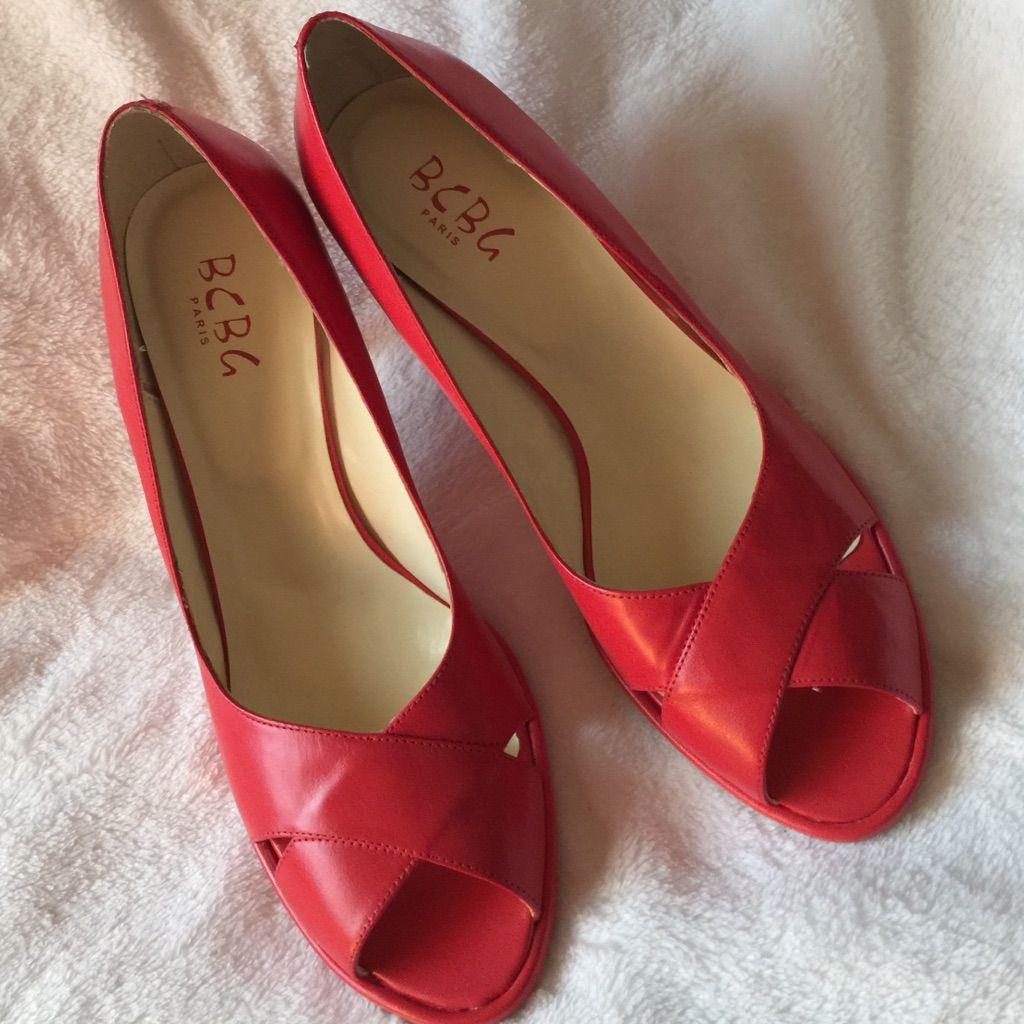 997fe9f8e00 BCBG Paris Shoes | New! Bcbg Paris Red Leather Heels | Color: Red ...