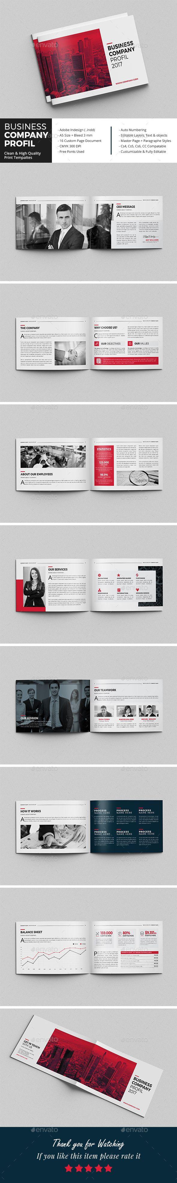 Business Company Profil | Diseño editorial y Editorial
