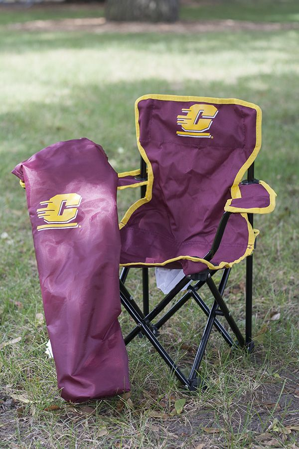 Cool Toddler Tailgate Chair With Central Michigan Flying C Squirreltailoven Fun Painted Chair Ideas Images Squirreltailovenorg