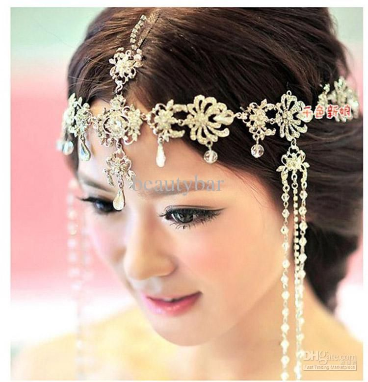 wedding bridal hair accessories headdress frontlet forehead decorated wedding accessories jewelry bohemian necklace