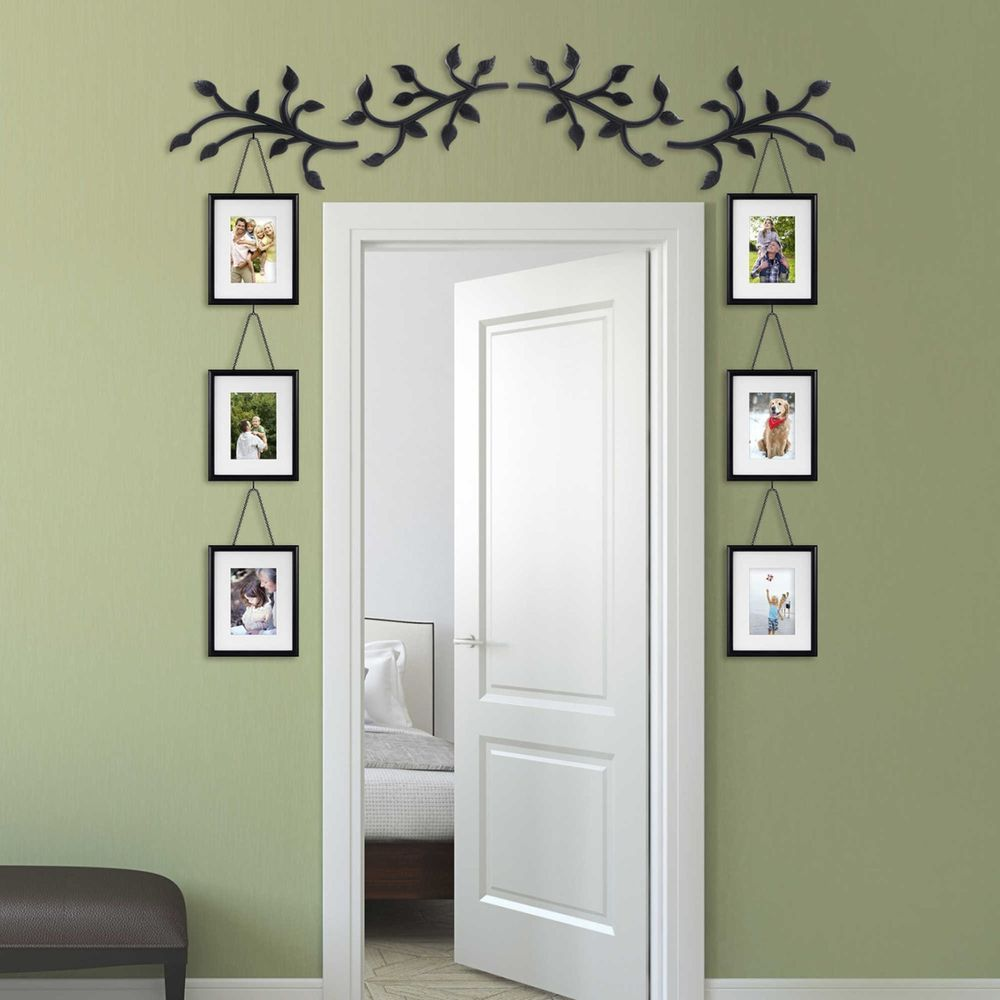 Hallway family tree collage picture photo wall art wedding for Hanging frames on walls