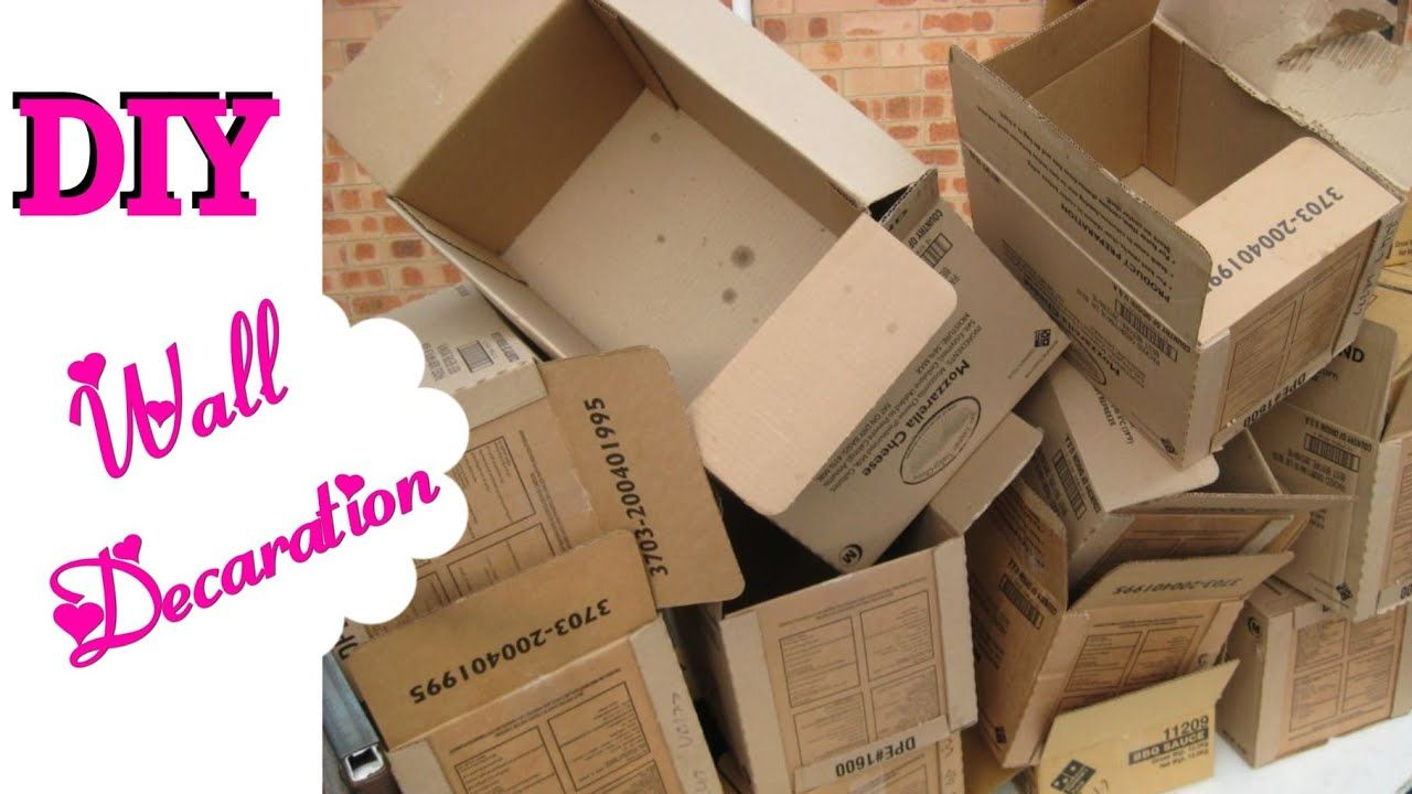 How To Resuse Old Cardboard For Wall Decoration Diy Cardboard