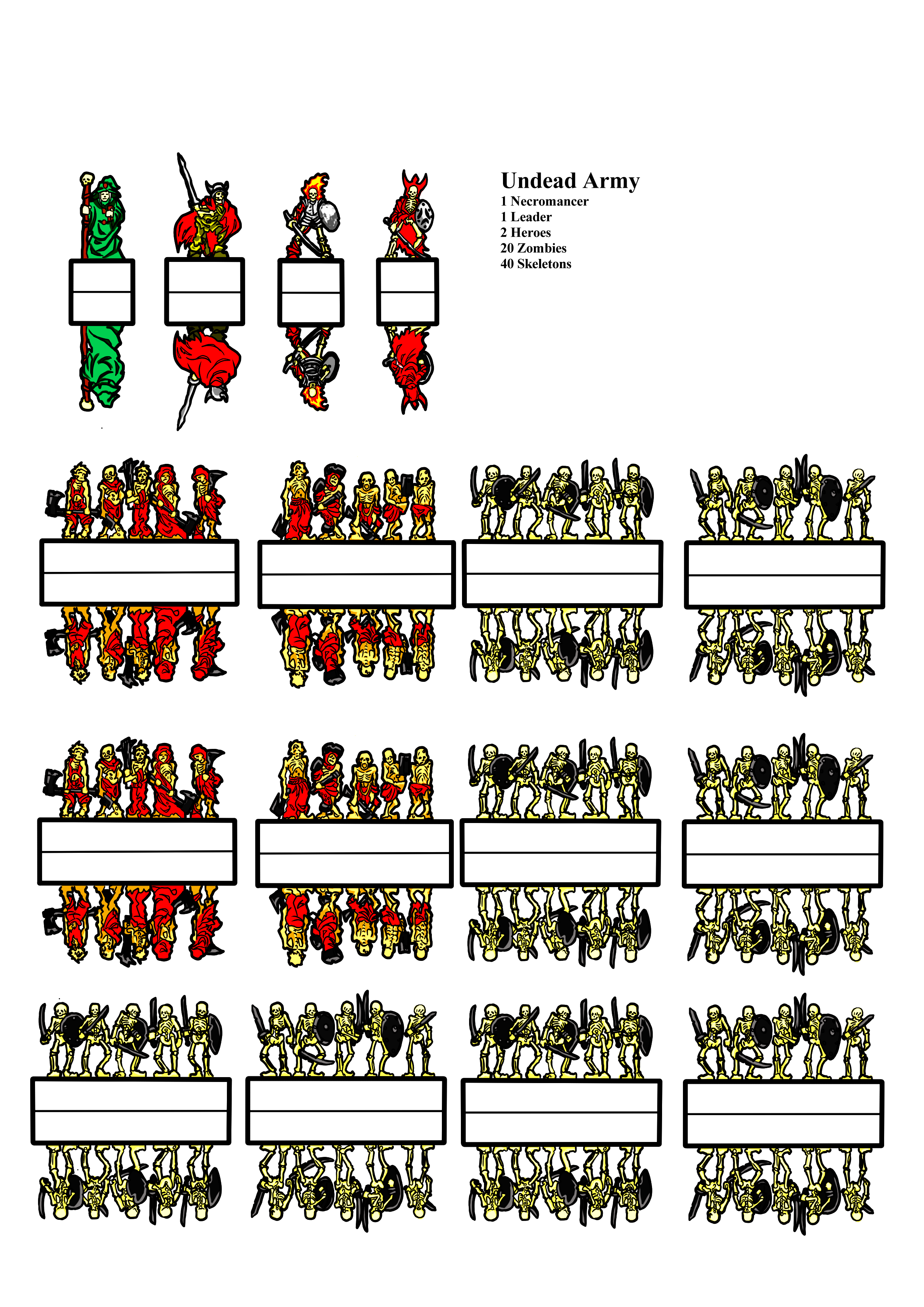 photograph regarding Printable Minis D&d identify paper miniatures undead DD in just 2019 Paper video games, Myth