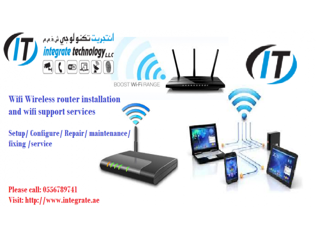 Wifi internet installation on call technician 0556789741 wifi router