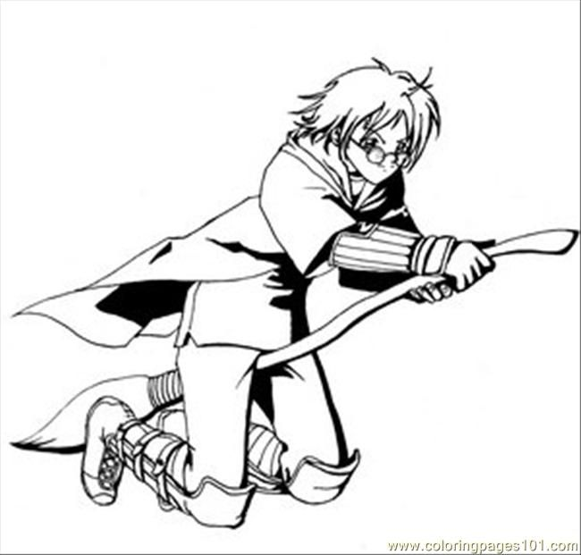 Coloring Pages Harry Potter Quidditch Cartoons
