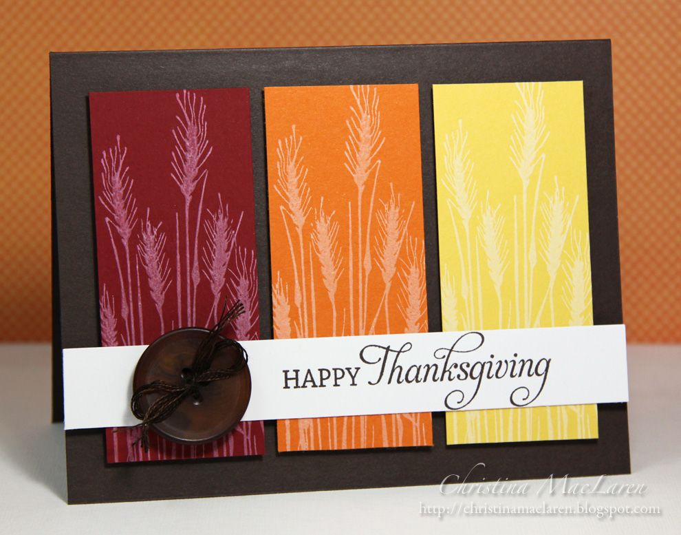 Thanksgiving Card Autumn Cards Pinterest Thanksgiving, Cards - Sample Cards