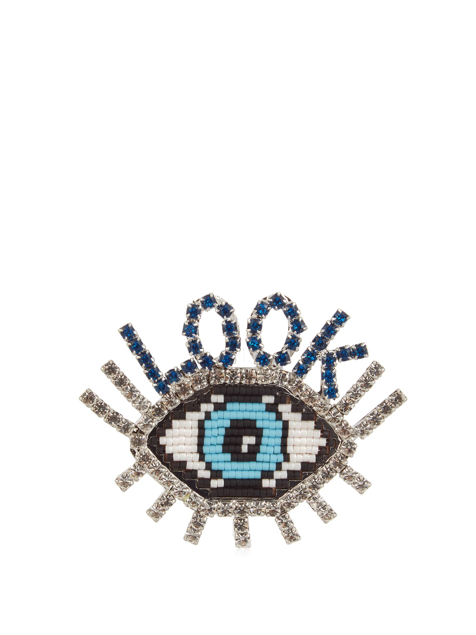 feathers shop needlework on online ludmila biser livemaster eye shipping with brooch item