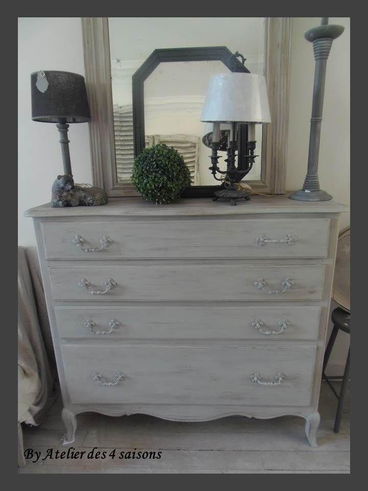 commode ancienne atelierdes4saisons revisit e patin e gris galet l gante pratique logea. Black Bedroom Furniture Sets. Home Design Ideas