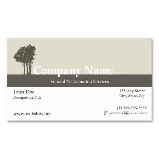 Funeral director business card mortician business cards funeral director business card colourmoves