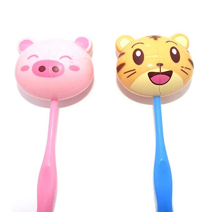 Amazon Com Ask Set Cartoon Toothbrush Holder Toothbrush Hanging Pig Tiger Gateway Character Cartoon Tweety