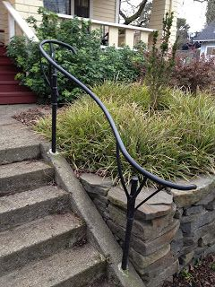 Best Handrail For Front Steps Outdoor Handrail Exterior 400 x 300