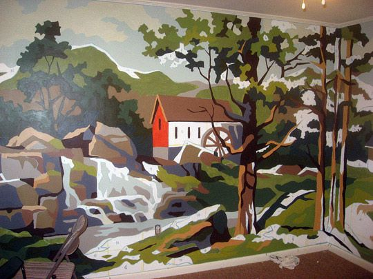 Paint By Number Mural Susan Caron Hansen