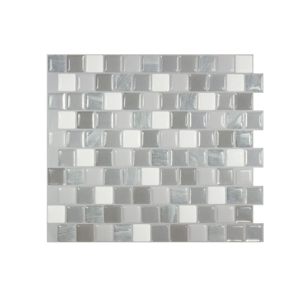 Brixia Casoria 10 20 Inch W X 8 85 Inch H Peel And Stick Decorative Wall Tile 4 Pack Smart Tiles Decorative Wall Tiles Vinyl Wall Tiles