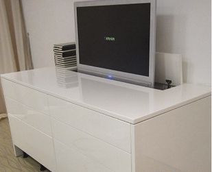 meuble tv escamotable tele pinterest meuble tv tv. Black Bedroom Furniture Sets. Home Design Ideas