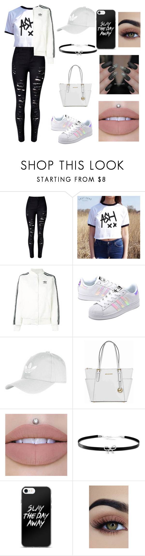 """Weekend Outfit"" by ryleedamnsartorius on Polyvore featuring WithChic, adidas Originals, Topshop, Michael Kors and Giani Bernini"