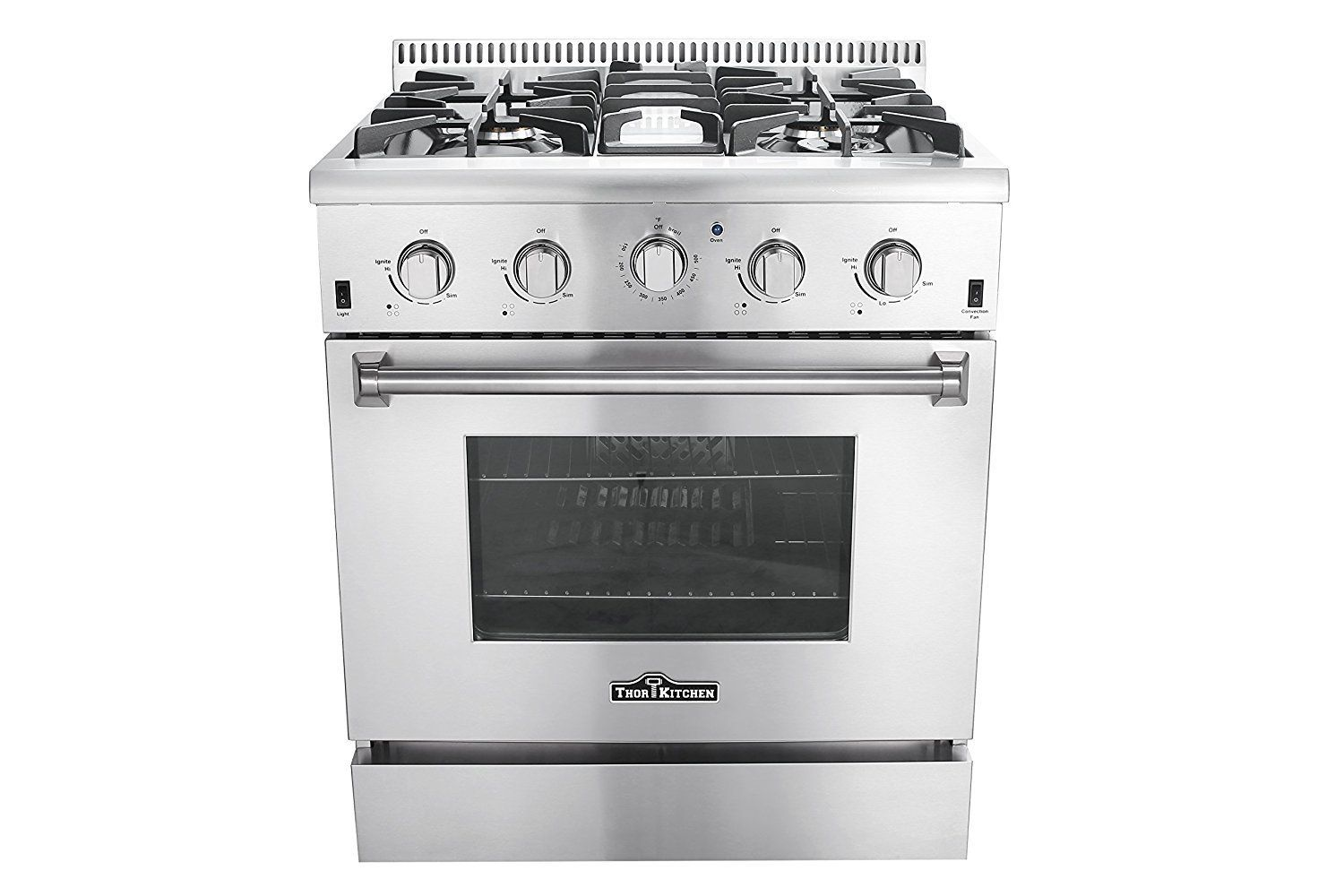 Thor Kitchen 30 Inch,5 Burners 1 Oven Freestanding or Built-in Gas Range Stainless Steel