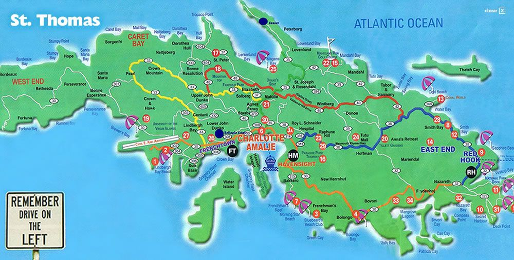 St Thomas Virgin Islands I would like to visit here – Map of St Thomas Virgin Island