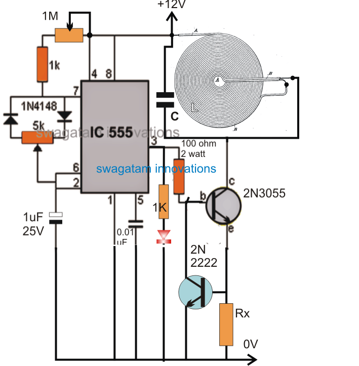 Wireless Battery Charger Circuit Diagram | High Current Wireless Battery Charger Circuit Elektronika