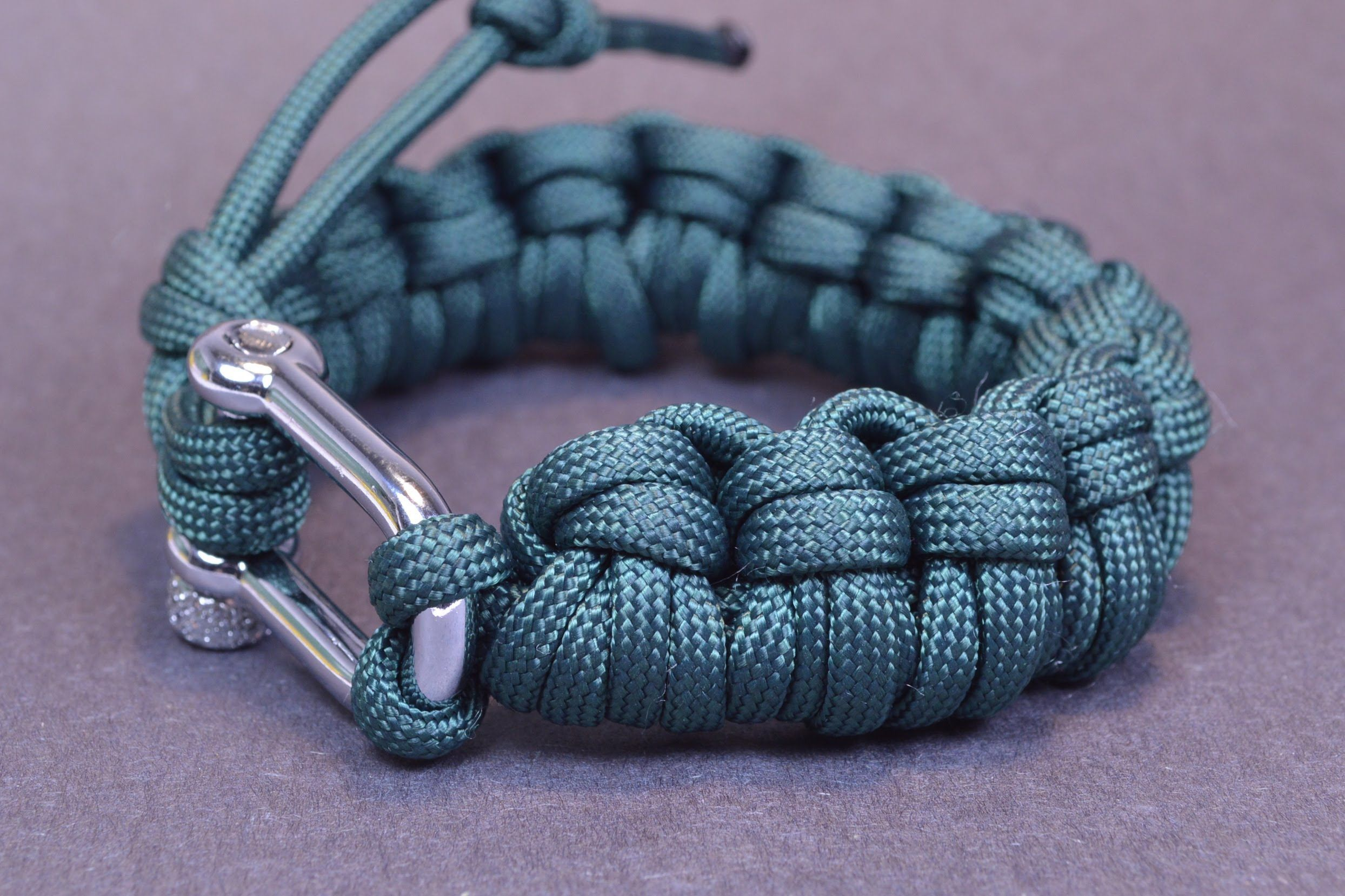 gray microcord paracord monty and bracelet pin collar my cobra creations white s king