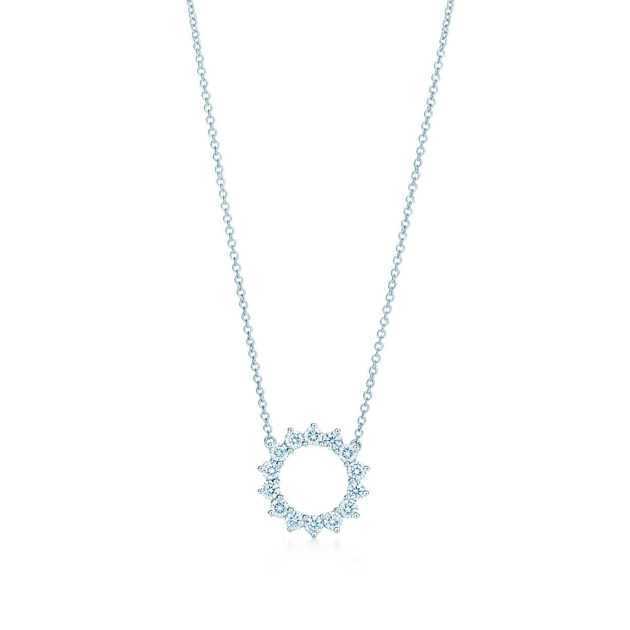 c41f446cf Open circle pendant of diamonds in platinum. | Tiffany & Co. | Jewelry