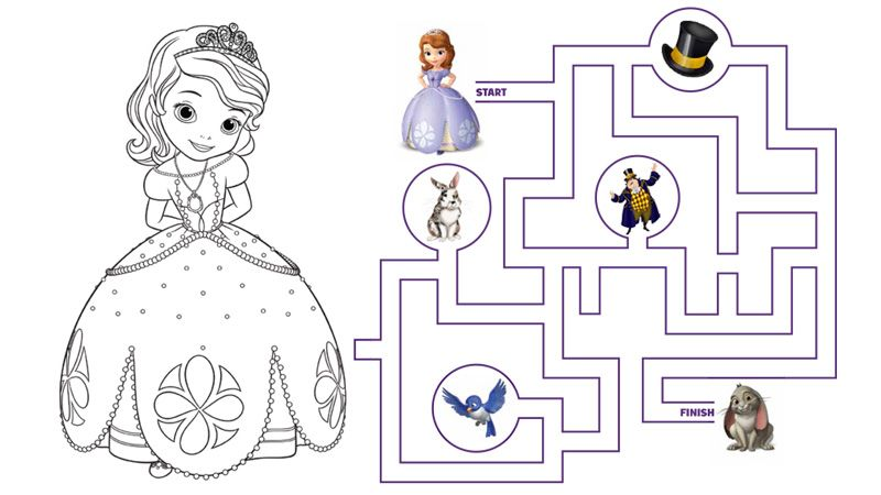 sofia the first: the curse of princess ivy - coloring page ... - Disney Jr Coloring Pages Print