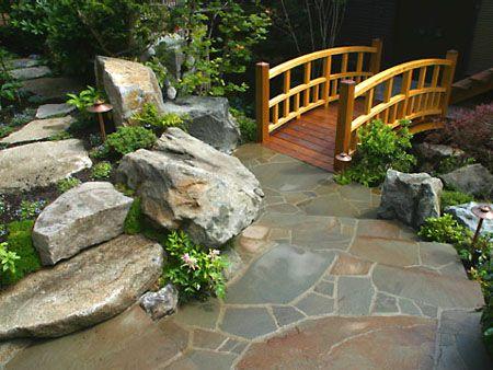 jardines zen diseño con puentes zen garden Pinterest Gardens