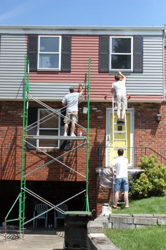 How We Painted Our Aluminum Siding With Brushes