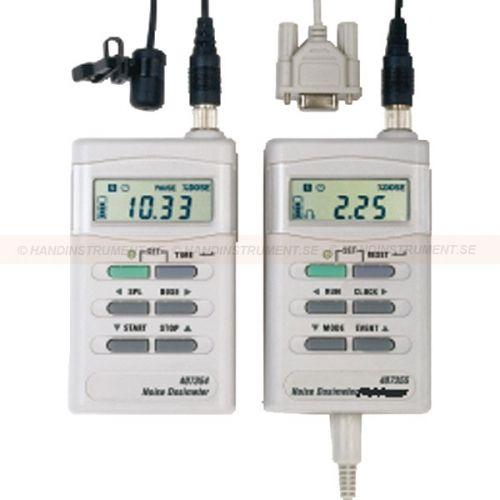 http://termometer.dk/lydmaler-r13047/lyddosimeter-r13048/stoj-dosimeter-53-407355-r13049  Støj Dosimeter  Udfør målinger acc. direktiv fra OSHA og IEC akkumulerede støj  Justerbare kriterier for niveau dosöverföring og tærskel  Ideel til personlig tra SALG på sin arbejdsplads akkumuleret støjbelastning  fem særskilte undersøgelser kan gemmes, herunder Start / Stop Time,% Dose, TWA og Peak værdier  RS-232-port med et serielt kabel for tilslutning til PC  Windows ® kompatibel software...