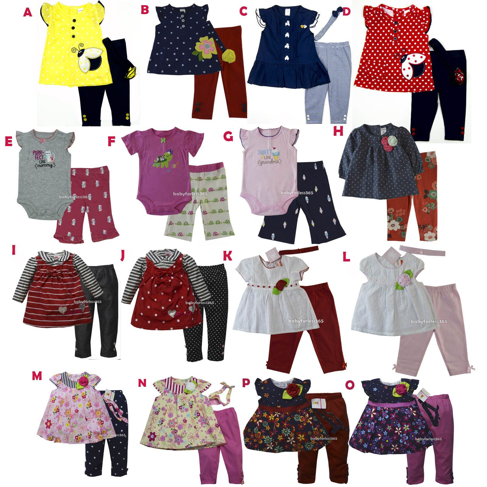 8a4567d60680 Girls Clothing Newborn-5T 147192  New Carter S Baby Girls Outfit ...