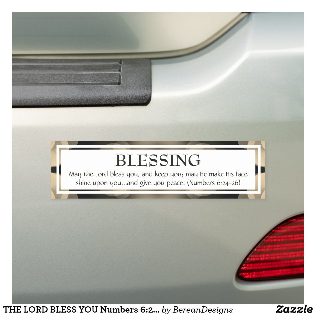 The Lord Bless You Numbers 6 24 26 Scripture Car Magnet Zazzle Com Scripture Car Magnets Blessed [ 1106 x 1106 Pixel ]