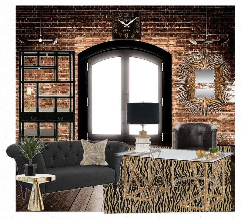 Industrial Look interiors doors styles | Denise Briant Interiors: Industrial Glam Office