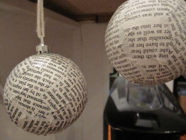 Paper Mache Christmas Ornament.Diy Paper Mache Christmas Ornaments Loving City Living