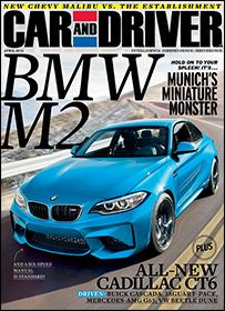 Car And Driver April 2016 Car And Driver Chevy Malibu Car Magazine
