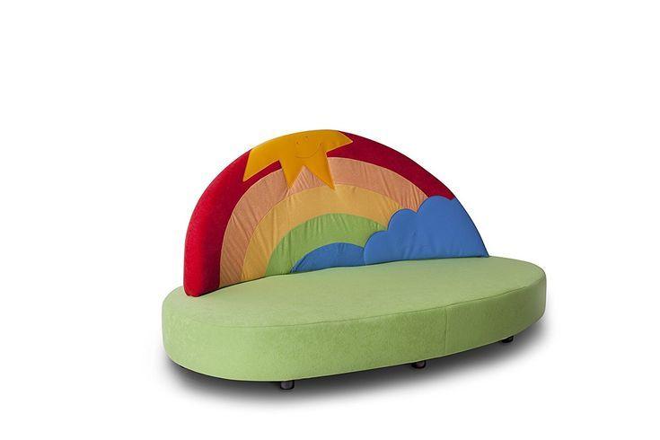 """Kindersofa """"Regenbogen"""" - ein echtes Deko Highlight im ..."""